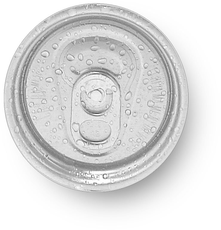 photo of aluminum can top